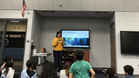 Jini Ramprakash leads Hour of Code activity