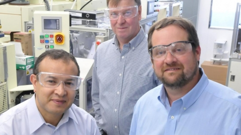 Discoverers of the NMC cathode and manufacturing process, left to right: Khalil Amine, Michael Thackeray, and Christopher Johnson.