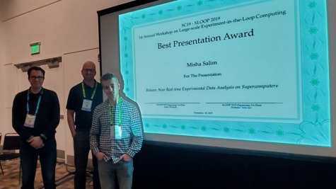 Misha Salim receives Best Presentation Award at SC19's XLOOP workshop