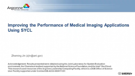 ISC 2020: Improving the Performance of Medical Imaging Applications Using SYCL