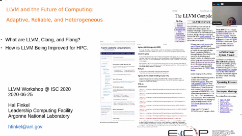 ISC 2020: The First Workshop on LLVM Compiler and Tools for HPC