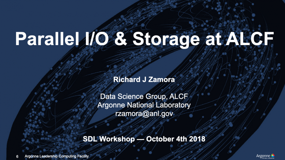 Parallel I/O and Storage